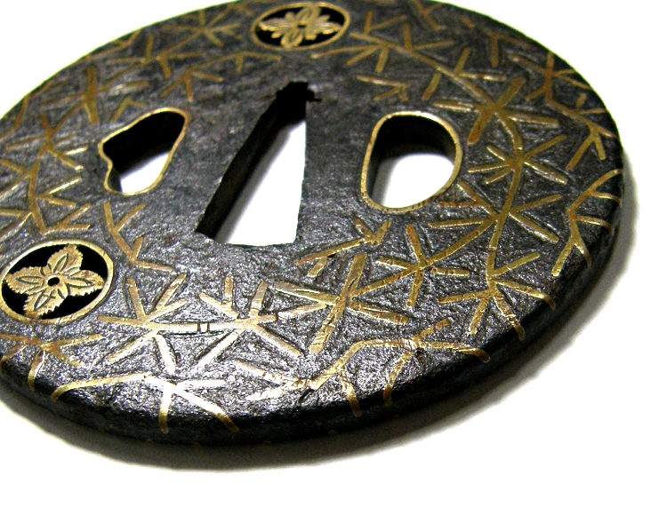 Inlaid with Brass